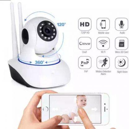 Babyfoon met app, Babyfoon met Wifi, Beveiligings Camera, Nachtvisie, Bewegingsdetectie, Praten Luisteren en Bedienen via Mobiele App en Pc, Remote Warning, I-Phone Android Mac Windows