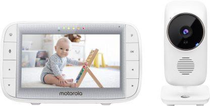 """Motorola MBP485 babyfoon - 5"""" kleurenscherm - terugspreekfunctie"""