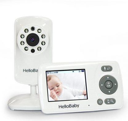 HelloBaby HB30 Babyfoon met camera - Nachtzicht - VOX modus - Terugspreekfunctie - Zoomfunctie