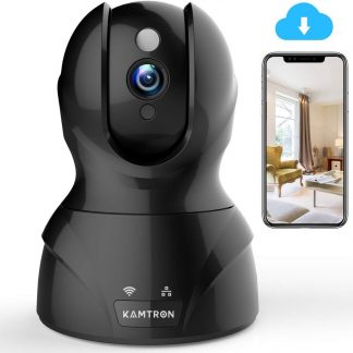 KAMTRON 1080P HD WiFi Security Surveillance IP Camera Home Baby Monitor with Motion Detection Night Vision, Two-way Audio