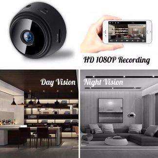 Mini HD WIFI camera voor smartphone | Beveiligingscamera/Spy camera | woning/babykamer/garage/babyfoon/kantoor/vakantie | Draadloze bewakingscamera met bewegingsdetectie