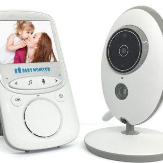 Babyfoon met Camera en Kleuren Monitor   Voor Thuis en Onderweg   Met Slaapliedje & Tweerichtingscommunicatie   Temperatuurbewaking & Nachtzicht   Groot Storingsvrij Bereik
