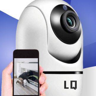 Beveiligingscamera met Bewegingsdetectie en Nachtvisie op Wifi - verbinden met Smartphone Tablet en Laptop - inclusief Muurbeugel - Babyfoon - voor Huisdieren