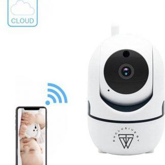 HD Wifi Babyfoon met Camera - Bewakingscamera - 720p - iOS/Android App - Wit