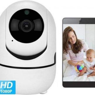LEAMSIQ® Babyfoon met Camera - Camera Beveiliging - Bewakingscamera - Bewegings- en Geluidsdetectie - 2-Weg Spraakfunctie - HD Kwaliteit - Nachtzicht | Nieuw Model 2020