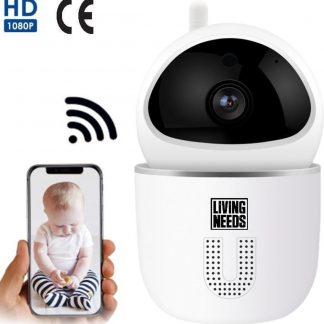 Living Needs Baby Camera - Babyfoon met Camera - Spraakfunctie - Bewegingsdetectie - 1080P HD.