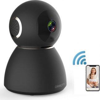 Orretti® X3 Cloud IP Beveiligingscamera - Geluids- en Bewegingsdetectie - Babyfoon met camera