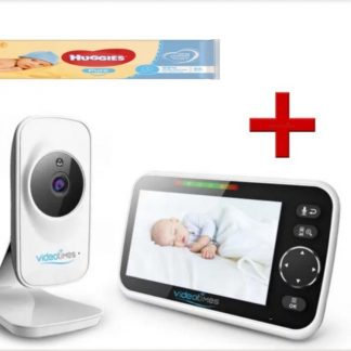 Video Times babyfoon HB50 2020 - 5.0 Inch - draadloze digitale video camera + 4 pakjes Huggies