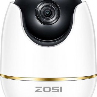 ZOSI Babyfoon - Beveiligings camera - Wi-Fi - 1080P - Full HD - 2.0 MP - Twee weg audio - Nachtzicht - Bewegingsdetectie - 360 graden zicht - Android / IOS App
