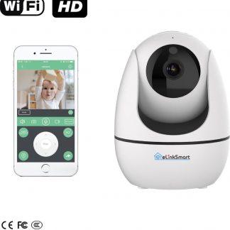 eLinkSmart WiFi Camera | Babyfoon met camera en app - Baby born | 720P HD IP camera beveiliging | APP IOS Android | Beveiligingscamera binnen