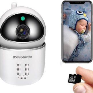 Babyfoon met Camera - Incl. 16GB SD Kaart - Notificatie bij huilende baby - Nachtzicht - met Microfoon - Babyfoon met camera en app - Babyfoon - Babyphone - Babyfoon Camera - Babyfoon WiFi