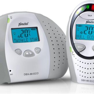 Alecto DBX-88GS Full Eco Dect Babyfoon met display - grijs