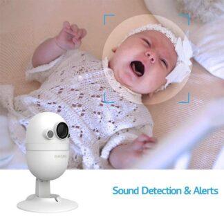 BOSMA Babyfoon met Camara en App - Smart WiFi Baby Camera 1080P HD met 2 richtingen Audio, Kind en Diervriendelijk Beveiligingscamera - Bewakingscamera Nacht