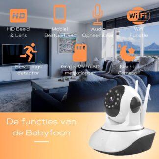 Babyfoon Met App - Inclusief Adapter - Nachtvisie - Bewegingsdetectie