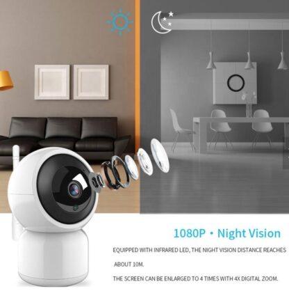 Babyfoon met camera - 1080 full HD - nachtzicht - draadloze wifi - camera met 2 weg audio - bewegingsdetectie