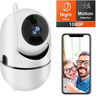 Babyfoon met camera - Beveiligingscamera - Binnencamera - Camera bewaking - Tweezijdige Communicatie - Nachtzicht - Wifi - Beveiligd - HD Quality - 1080P - Nederlandse handleiding - opslag in Cloud of SD