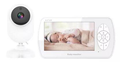 Draadloze slimme babyfoon met camera, 1080P 4,3-inch LCD-scherm digitale 2,4 GHz