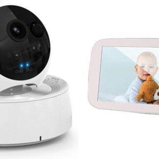 Foresta® XXL Babymonitor Deluxe - video Babyfoon - Babyphone met Camera - Premium 5 inch monitor - op afstand bedienbaar