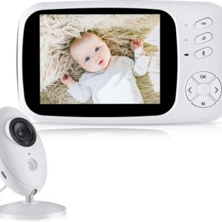 Fuegobird Babyfoon met camera | 3.5 inch babyphone | Veilige verbinding | Terugspreken | Temperatuur | Slaapliedjes | Nachtzicht | Energiebesparing
