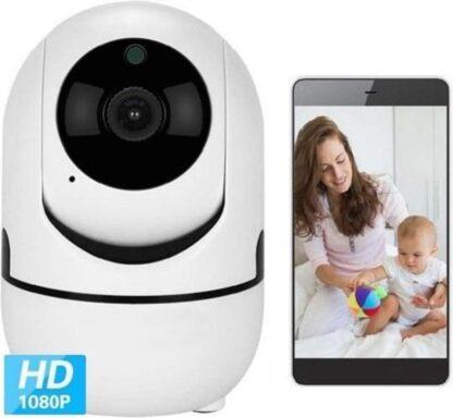 LEAMSIQ® Babyfoon met Camera - Camera Beveiliging - Bewakingscamera - Beweeg en Geluidsdetectie - 2-Weg Spraakfunctie - HD Kwaliteit - Nachtzicht | Nieuw Model 2020