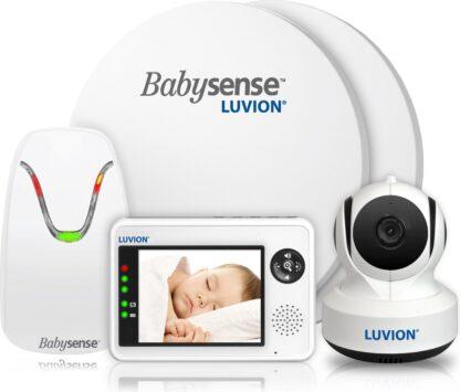 Luvion Essential Babyfoon met Camera + Babysense 7 - Sensormatje - Veiligheidsvoordeelbundel