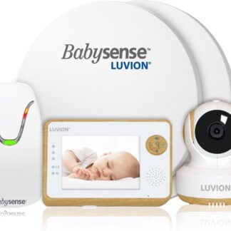 Luvion Essential Limited Babyfoon met Camera + Babysense 7 - Sensormatje - 5 Sterren Veiligheidsvoordeelbundel