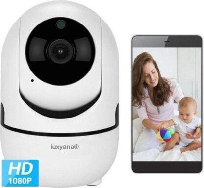 Luxyana® Babyphone met Camera - HD Kwaliteit - Premium Beveiligde Baby Phone - WiFi - Wit