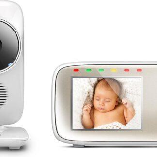 """Motorola MBP-483 Babyfoon met camera 2.8"""" - Met kleurenscherm en infrarood verbinding - Wit"""
