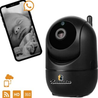 Necessitas Smart Camera met Cloud Opslag zwart - Babyfoon met HD WiFi camera - iOS & Android - Huisdierencamera