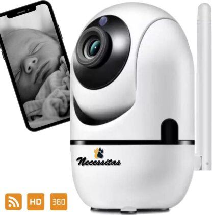 Necessitas Smart Camera met Cloud Storage - Babyfoon met HD WiFi camera - iOS & Android - Huisdierencamera