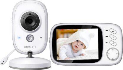 Orretti® V8 Babyfoon met camera - EXTRA batterij inbegrepen - Nederlandse Handleiding - Groot LCD scherm - Sterk Zendbereik - 2020 Upgrade Versie