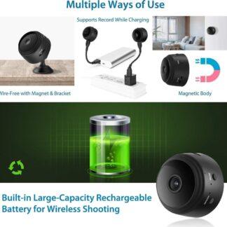 Smart Wi-Fi security camera - Met Nightvision - Babyfoon functie - Magnetisch