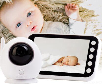 Babyfoon met Camera - Soultex Pro - Groot LCD kleurenscherm - Makkelijk in Gebruik - met Temperatuursensor - Spraakfunctie - Infrarood Nachtzicht - Nieuw Model - Premium Babyfoon Wit