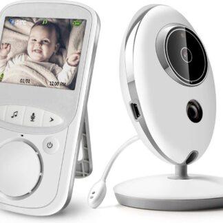 DrPhone Draadloze Babyfoon - 360° Draaibaar - Nachtzicht - Temperatuurbewaking