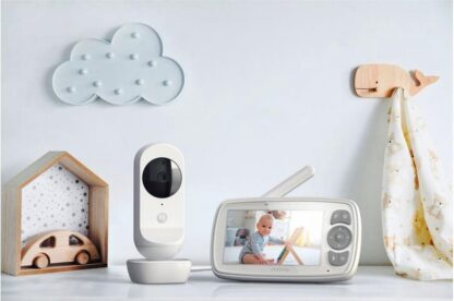 Motorola® Video babyfoon EASE30 - Babyfoon met camera - 4 inch video babyphone - Baby kleur monitor - Extra groot LCD scherm