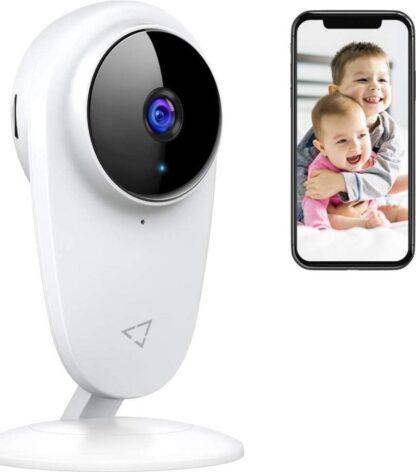 Victure 1080P babyfoon, interne wifi-camera, IP-camera voor kinderen en huisdieren, interne camera met nachtzicht en bewegingsversterking met bidirectionele toon