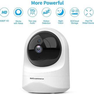 HD Wifi Babyfoon met Camera - Camera Beveiliging - 1080P - Geluid en Bewegingsdetectie - Nachtzicht