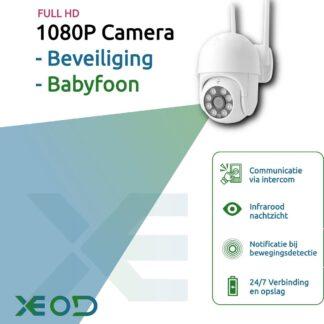 1080P WiFi Beveilingscamera met Bewegingsdetectie - Bewakingscamera - Babyfoon met Camera - Smart Home