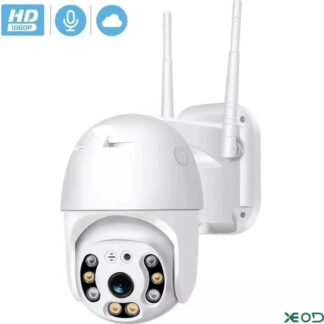 1080P WiFi Beveilingscamera met Bewegingsdetectie - Bewakingscamera - Babyfoon met Camera - Smart Home - IP66