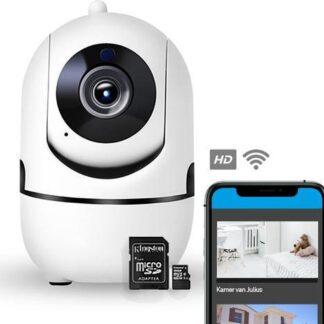 Agunto IP Camera - Met SD Kaart - 1080P WIFI Smart Camera - Beveiligingscamera - Babyfoon - WiFI