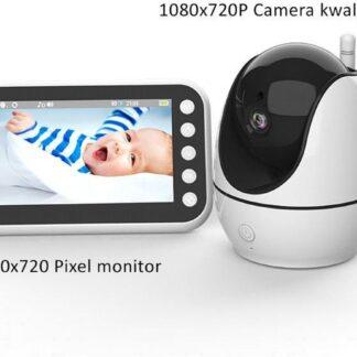 Babyfoon met HD Camera- 355° Graden Roteerbaar- 4,5 inch LCD display- Nachtzicht- Temperatuurcontrole