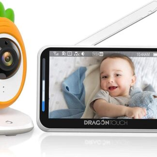 Babyfoons - Babyfoon met camera, video-babyfoon, babybewakingscamera, 4,3-inch lcd-scherm met tweerichtingsaudio, gesplitst scherm, onzichtbaar led-nachtzicht, VOX-modus, temperatuurbewaking