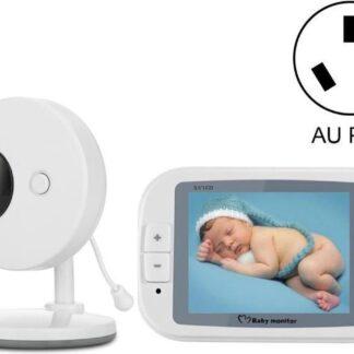Direct-security 3,5 inch groter scherm draadloze digitale bewakingscamera Babycarrièrefoon Draadloze babyfoon, AU-stekker SP851 (zwart wit)