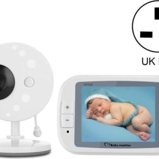 Direct-security 3,5 inch groter scherm draadloze digitale bewakingscamera Babycarrièrefoon Draadloze babyfoon, UK-stekker SP851 (zwart wit)