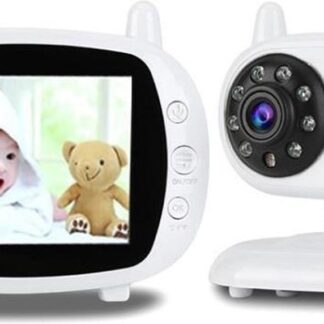 Direct-security BM-850 3,5 inch LCD 2,4 GHz draadloze bewakingscamera babyfoon met 8-IR LED-nachtzicht, tweeweg spraakgesprek (wit)