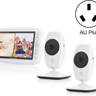 Direct-security SP870 2 STUKS Draadloze digitale bewakingscamera Babyfoon met 7 inch groot scherm, AU-stekker