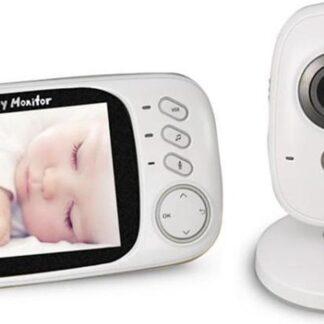 Direct-security VB603 3,2 inch LCD 2,4 GHz draadloze bewakingscamera Babyfoon, ondersteuning voor tweerichtingsgesprek, nachtzicht (wit)