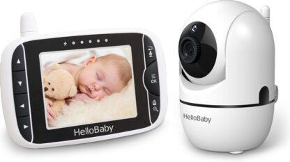 HelloBaby HB65 Babyfoon met Camera - Op Afstand bedienbaar - Terugspreekfunctie - Nachtzicht - Temperatuur controle - Slaapliedjes