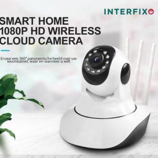 InterFixo Beveiligingscamera - IP Camera Pro - Bewakingscamera - WiFi Smart Camera - Camera - Beveiliging - Babyfoon met Camera