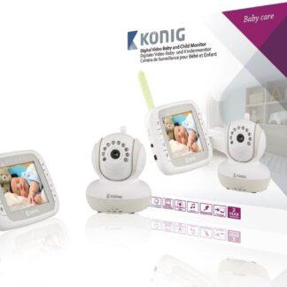 König KN-BM80 DECT babyphone Grijs, Wit babyfoon